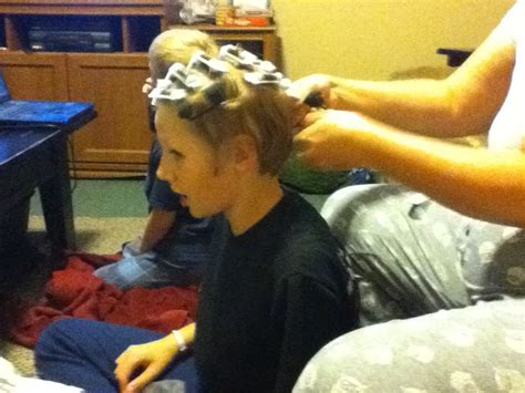 curlers in his hair picture 17