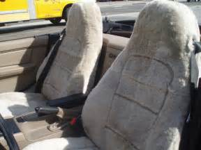2 tone sheep skin seat covers picture 5