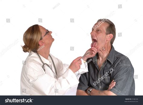 female doctor surprises male patient during physical picture 7