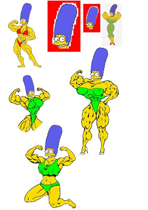 marge simpson muscle growth picture 1