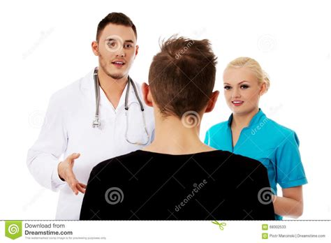 female dermatologist and male patient picture 19