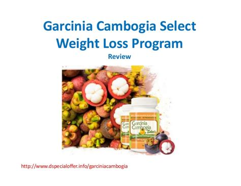 weight loss program with garcinia gambogia picture 1