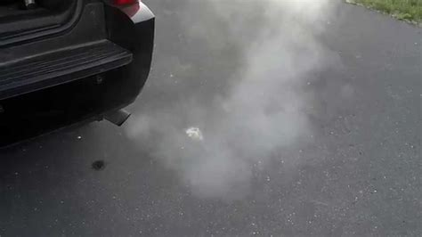 dangerous white smoke from exhaust picture 7