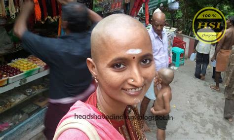 indian women head shave picture 2
