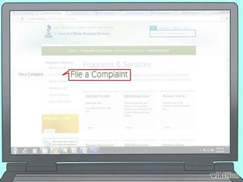 file complaint online business picture 1