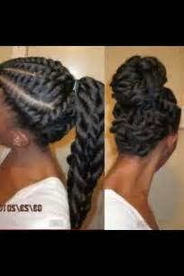 black hair style flat twists picture 3