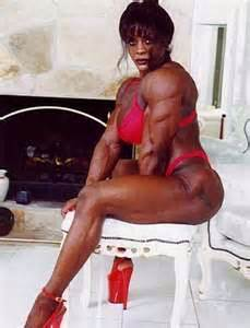 female black bodybuilders wrestling picture 7