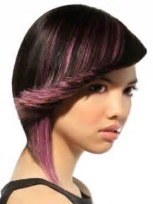 black hair with streaks and colors picture 1