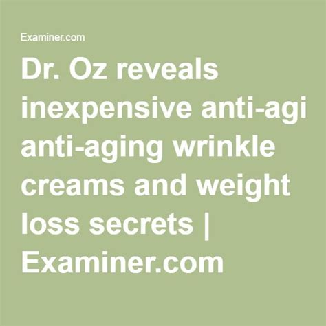 anti aging creams dr oz uses on ellen picture 7