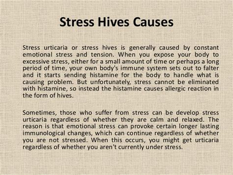 can stress cause hives picture 6