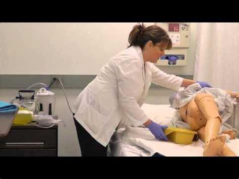 a nurse bathing a male patient. picture 10