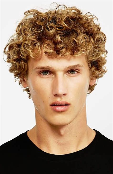 man with blonde curly hair picture 5