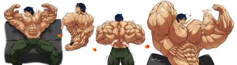 big giant muscle men fantasie art picture 1