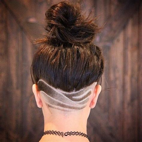 womens long hair shave picture 3