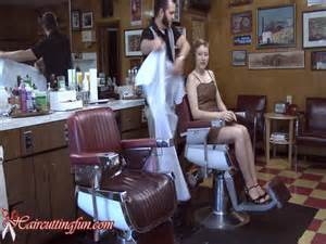 barber shaving women picture 2