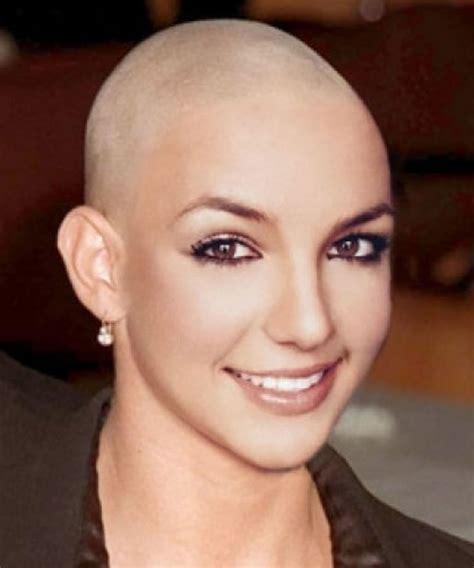 female bald head shave picture 1