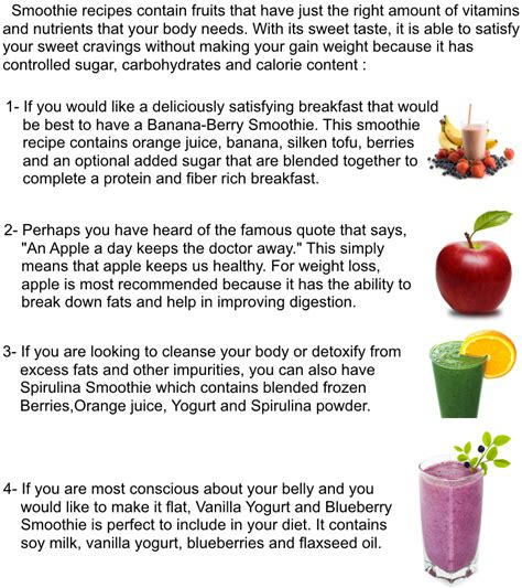 find smoothies recipes to gain weight picture 9