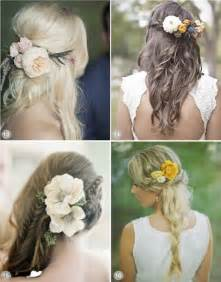 bridal hair styles with flowers picture 1