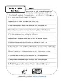 colon grammar worksheets picture 1