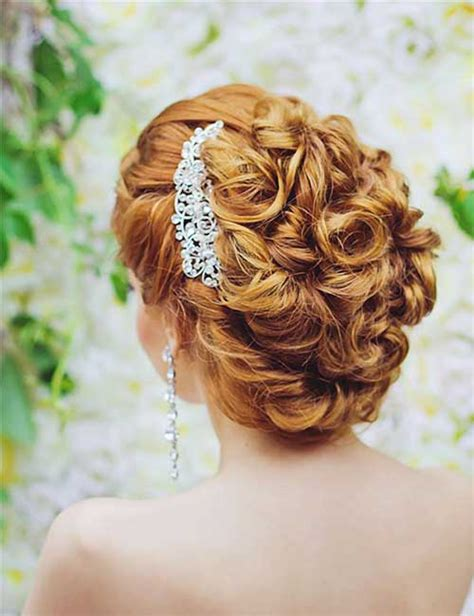 curly frizzy hair updo for wedding picture 11