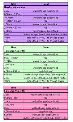 infant sleep schedule picture 7