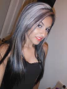 black hair with streaks and colors picture 14