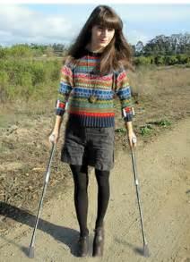 women crutches picture 5