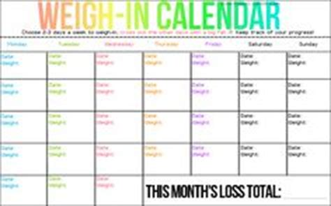 weight loss calendar picture 1