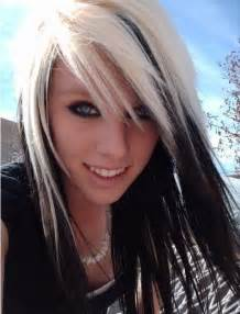 blonde hair and black highlights picture 6