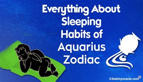 aquarius sleeping habits picture 1