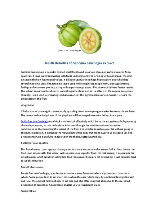 garcinia cambogia health benefits picture 2