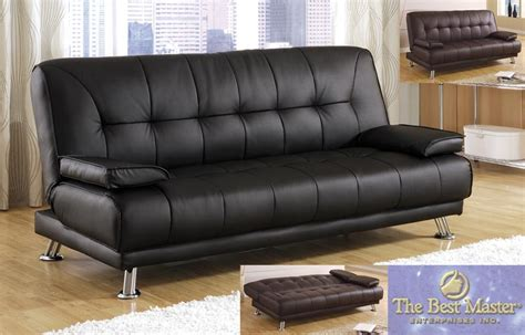 black leather sofa sleepers picture 5