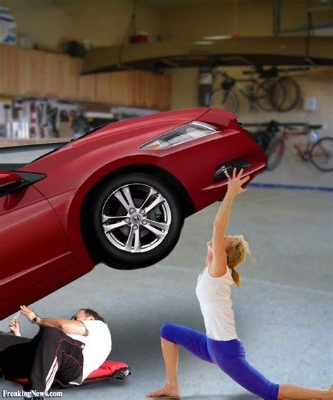 female lifting car picture 2
