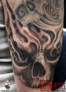 tattoos with smoke and skulls picture 1