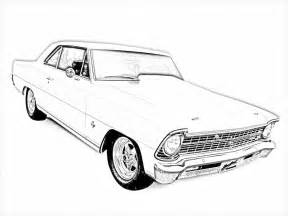 free printable muscle car art picture 21