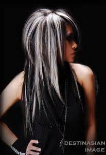 platinum blonde hair with black streaks picture 4