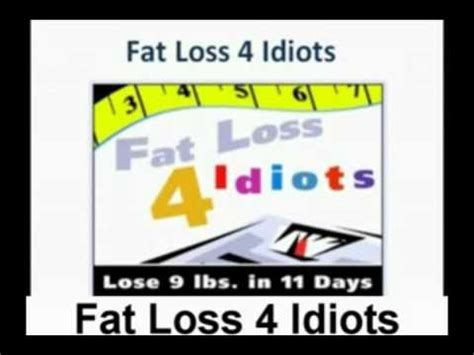fat loss 4 idiots dieet picture 3