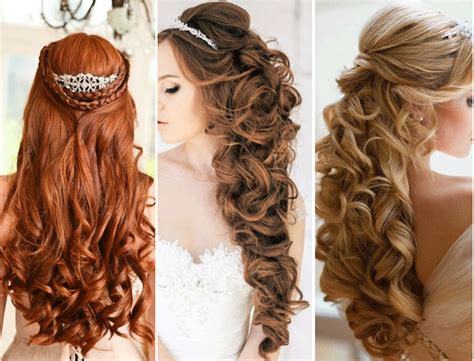 wedding hair half up half down formal picture 10