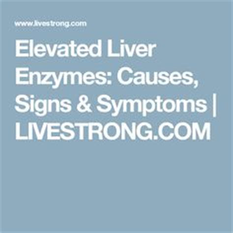 elevated liver enzymes symptoms picture 6