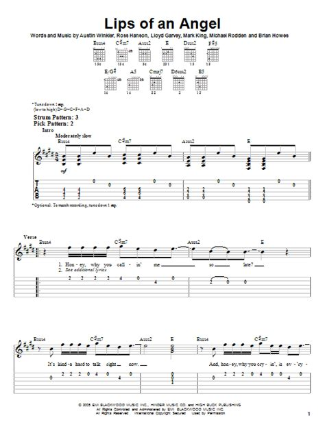 hinder- lips of an angel guitar tabs picture 1