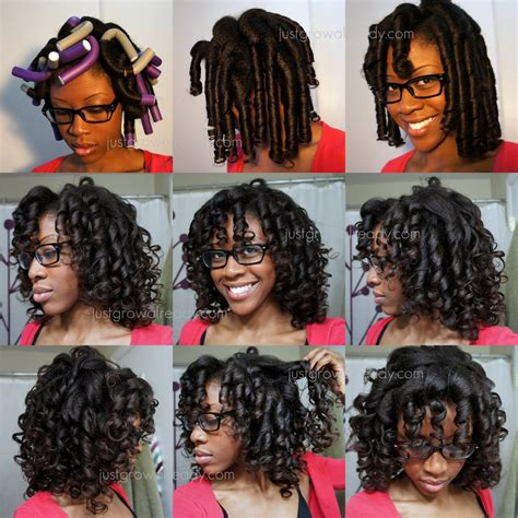how to roller set transitioning hair picture 5