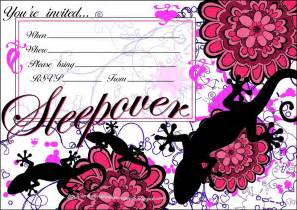 invitations for sleepover birthday party picture 7