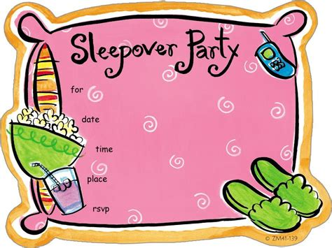 clip art with sleep over partys picture 5