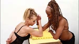 female wrestling black vs white picture 15