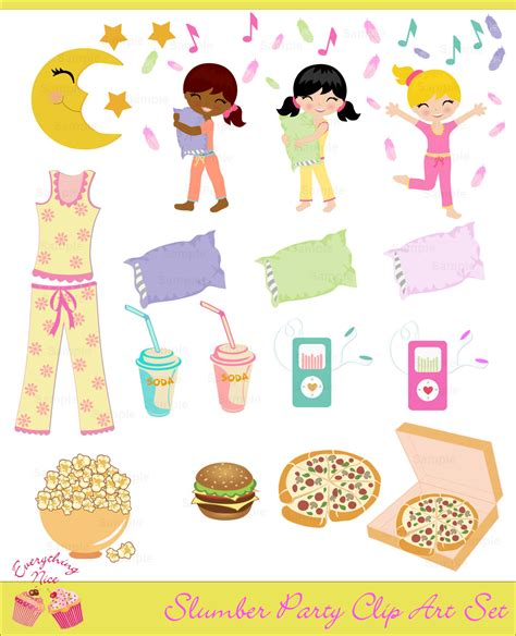 clip art with sleep over partys picture 11