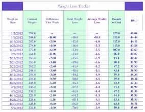 2013 weight loss tracker chart picture 11