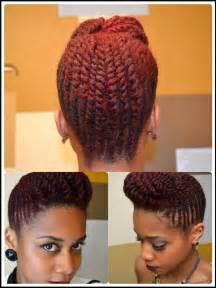 flat hair weave technique picture 5