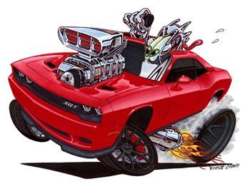 high octane muscle car drawings picture 17