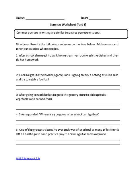 colon grammar worksheets picture 9