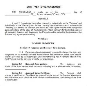 free joint venture contract picture 2